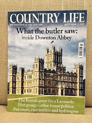 COUNTRY LIFE MAGAZINE 11th SEPTEMBER 2019 DOWNTON ABBEY WHAT THE BUTLER SAW. VGC