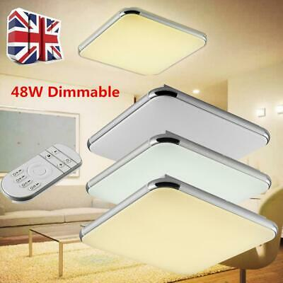 48W Dimmable LED Ceiling Light Bright Down Panel Wall Kitchen Bathroom Lamp