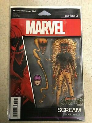 ABSOLUTE CARNAGE 5 NM First 1st print Action Figure variant Scream Cover Cates