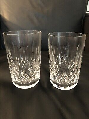 Waterford 2 Crystal Lismore Claret Glasses Vintage Drinking or Double RARE !!!