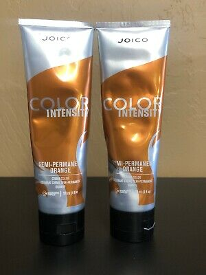 2 Joico COLOR INTENSITY Semi Permanent Orange 4 Oz Each