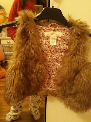 Girls H&M Fake Brown Fur. Age 6 To 7