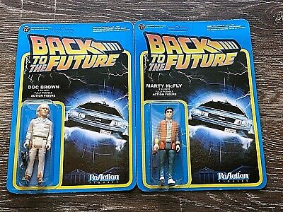Funko Reaction 2 Back To The Future Figures Marty McFly Doc Brown NEW UNPUNISHED