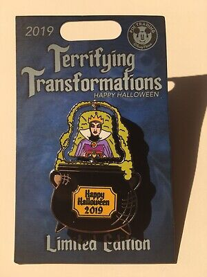 Disney Parks Evil Queen Hag Terrifying Transformations Spinner LE 5,000 Pin
