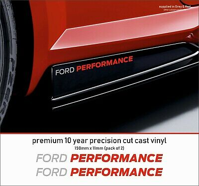 FORD PERFORMANCE RACING (M) Premium 10 Year Cast Vinyl Decals Stickers  x 2