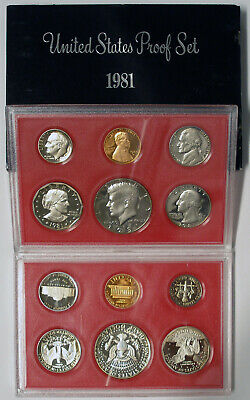 1981 S United States Proof Coin Set Original Government Packaging