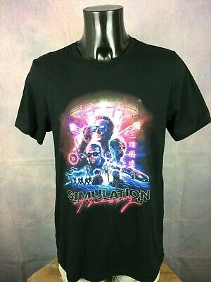 MUSE T Shirt Simulation Theory Cover Double Sided Stacked Logo Tour Band Design