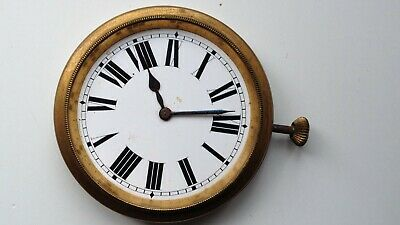 VINTAGE GOLIATH SWISS MADE 62mm MANUAL WIND CLOCK WORKING ORDER FOR SPARES