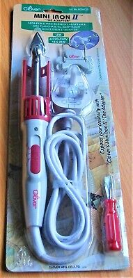 CLOVER MINI IRON ll The Adapter Model Tip Stand Screwdriver Crafting Sewing NEW