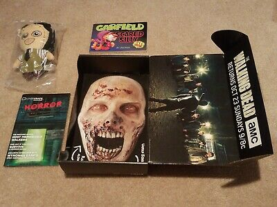 Lootcrate Promo Walking Dead Zombie Mask Box w Sealed Texas Chainsaw Kidrobot +