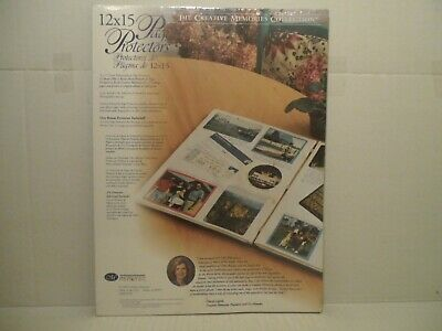 THE CREATIVE MEMORIES COLLECTION 12x15 Page Protectors 16 sheets/32 pages (1999)