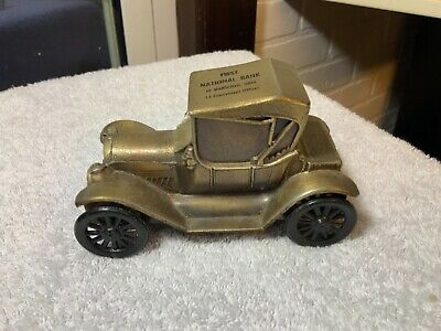 BANTHRICO VINTAGE CAST METAL 1915 CHEVY BANK First National Bank Mansfield Ohio