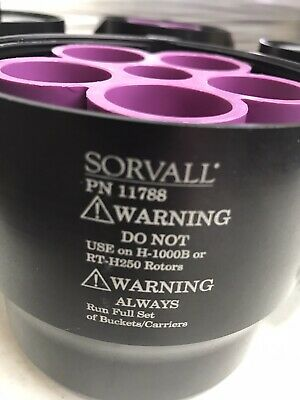 Sorvall Centrifuge Buckets PN 11788 (4 Count) Inserts NOT Included