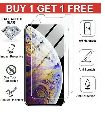 Tempered Glass Screen Protector For Apple iPhone X - Xs 100% Genuine