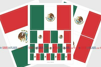 MEXICO STICKER    10-SIZES MEXICAN VINYL FLAG DECAL