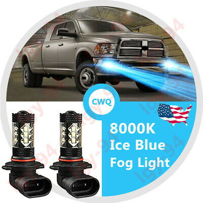 9145 9140 H10 LED Fog Light Bulbs Kit For Ram 1500 2500 3500 Ice Blue 8000k 120W