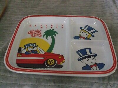 1986 Beverly Hills Baby Club Himark KIDS Klub 3 Compartment Plate