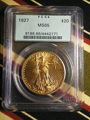 1927 Saint Gaudens $20.00 Gold Double Eagle PCGS MS65 Old Green Holder