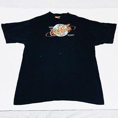 World of Coca- Cola Las Vegas Vintage RARE Tee SS Black and Red Size XL