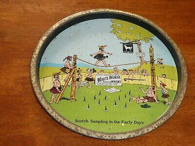 Vintage White Horse Scotch Whisky Bar Drinks Tray by J Marsh & Sons Melbourne