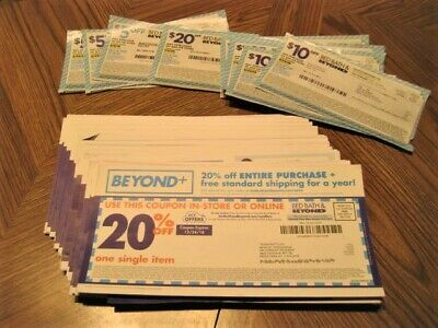 44 Bed Bath & Beyond Coupons 35-20% - 1- $20.00 Off $80.00 - 5 - $10.00 Off $30