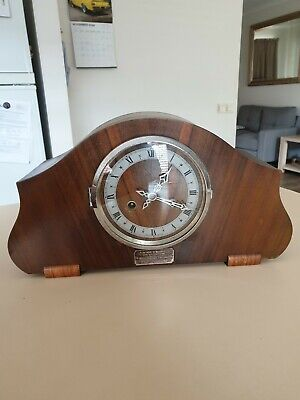 Beautful Restored Striking Mantle Clock Made In England With Key