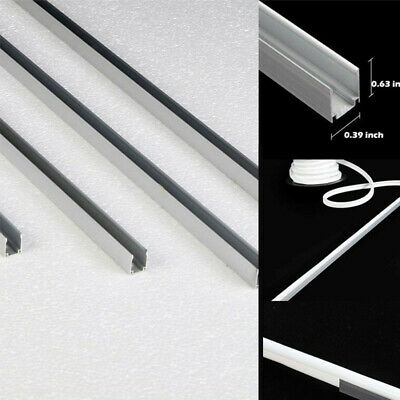 5X 3.3' Aluminum Holder Channel Track For 8mmx17mm LED Neon Rope Light Mounting
