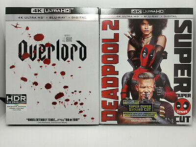 Overlord 4K + Deadpool 2 Extended Cut 4K (4K+Blu-ray+Digital Copy+Slip Covers)