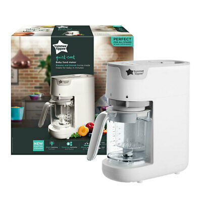 Tommee Tippee Steamer Healthy Baby Food/Fruit Maker/Blender Juice Squeeze White