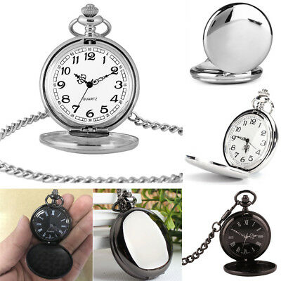 Mens' Pocket Watch Antique Style Analog Dial Quartz Pocket Watch with Chain Gift
