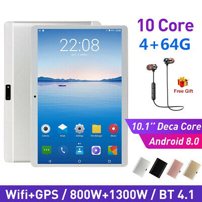 10.1 Inch Bluetooth Android 8.0 Tablet 6+128GB Phablet PC Dual Camera IPS WiFi