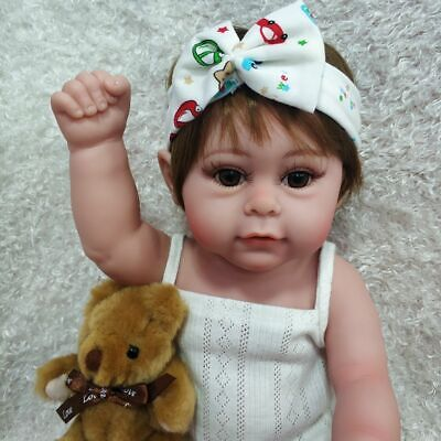 "Anatomically 18"" Realistic Reborn Baby Doll Full Body Silicone Xmas Gifts Dolls"