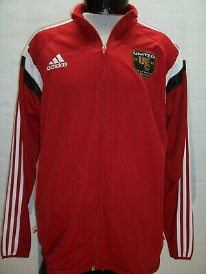 NEW NWT ADIDAS Manchester United Mens Large L Climacool Soccer Track Jacket