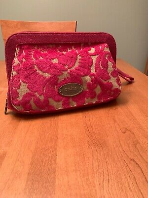 CAKE by Petunia Clutch Diaper Bag Purse Pink EUC
