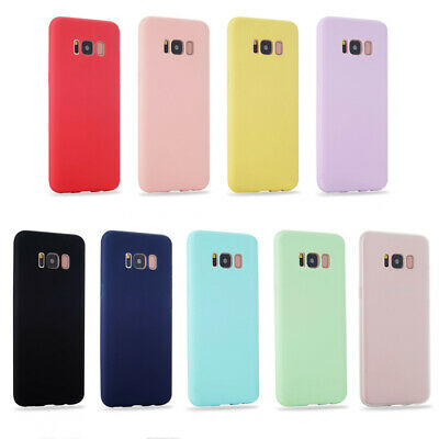 Silicone Case For Samsung Galaxy S8 S9 S10 Plus Matte Candy Solid Color Cover