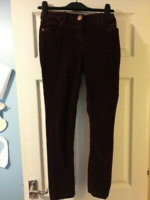 Girls Plum coloured corduroy trousers from Next, age 12 years