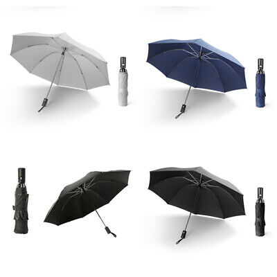 1X(Men Folding Reverse Umbrella Parasol Women Travel Sun Umbrellas Windproo D1E2
