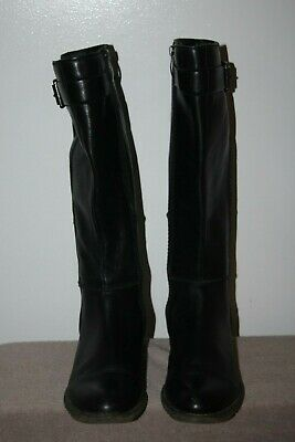 Black size 39 Leather Boots