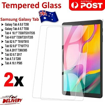 2x Premium Tempered Glass Screen Protector For Samsung Galaxy Tab A8.0/10.5/S4