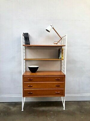 Vintage Ladderax Teak Shelving Bookcase Unit. Danish Retro Mid Century. DELIVERY