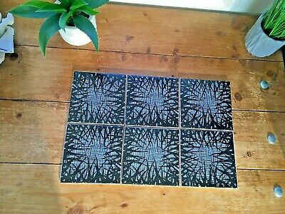 1 Mid Century Modern 50'S 60S 70'S H & R Johnson Tile Abstract Jungle Grass Mesh
