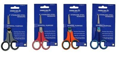 Green Jem General Purpose Stainless Steel Scissors-Arts Craft Hobbies Handy 5""