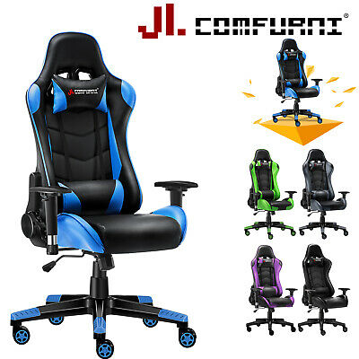 Executive Racing Gaming Office Chair Adjustable Swivel Computer Desk Home Chair