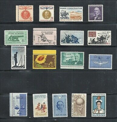 1961 - Commemorative Year Set - US Mint NH Stamps - Lowest Prices