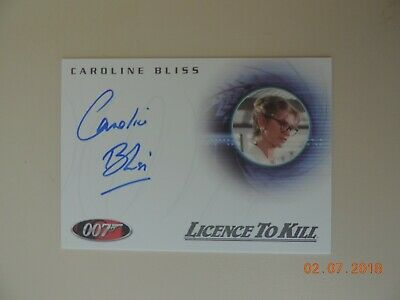 "The Complete James Bond - A70 Caroline Bliss ""Miss Moneypenny"" Autograph Card"