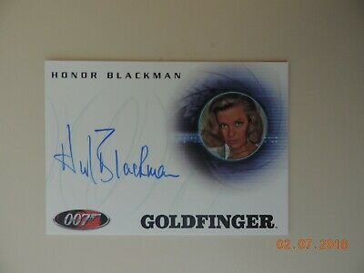 "The Complete James Bond - A72 Honor Blackman ""Pussy Galore"" Autograph Card"