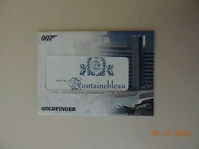 James Bond The Complete Relic Card RC3 Hotel Fontainebleau Letterhead