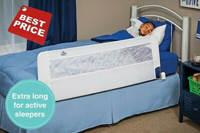 Regalo Swing Down 54 inch Extra Long Bedrail Bed Fence Guard Crib Child Safety