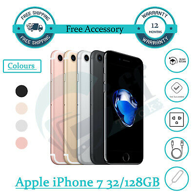 Apple iPhone 7 - 32GB - 128GB - Unlocked Smartphone Various Colours All Grades