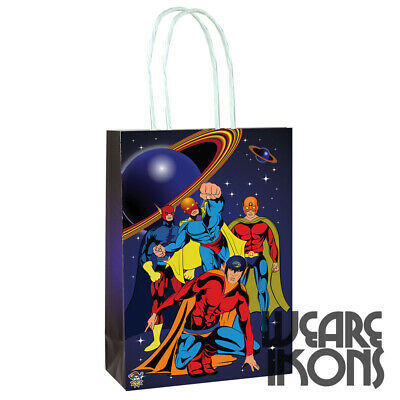 Super Hero Party Bags Gift Bag With Handles - Recyclable Birthday Loot Wedding